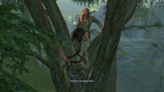 There you will receive a task of obtaining a feather lying at the top of the rock - Sequence 4 - Feathers and Trees - Walkthrough - Assassins Creed III - Game Guide and Walkthrough