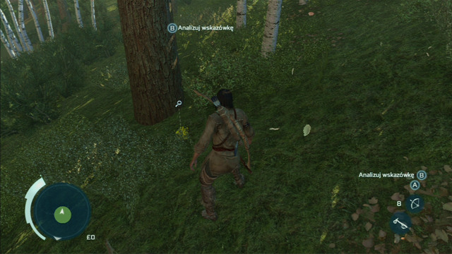 Afterwards search the zone for traces marked with a magnifying glass - Sequence 4 - Hunting Lessons - Walkthrough - Assassins Creed III - Game Guide and Walkthrough