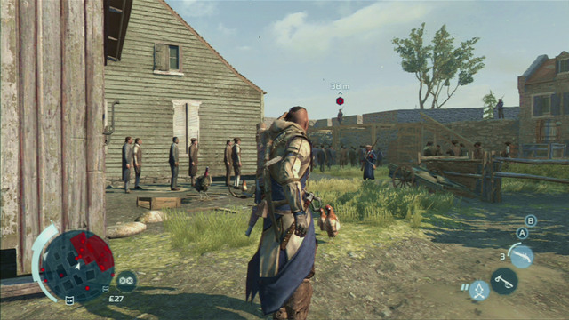 Speak with the man to receive a mission of killing the officer recruiting new members to the Templar army - Boston - southern district - Assassin Guild - Assassins Creed III - Game Guide and Walkthrough
