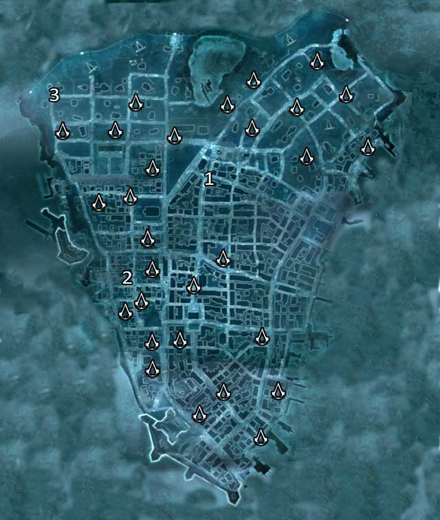 1 - Contact in the eastern district - Map of New York - Assassin Guild - Assassins Creed III - Game Guide and Walkthrough