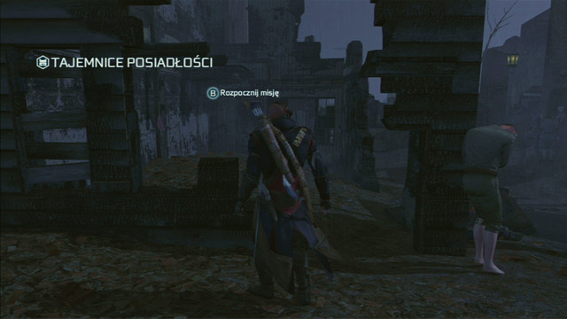 After approaching the destination, press the interaction button and a green dot marking the place where the package is hidden will appear - Achilles - Homestead - Assassins Creed III - Game Guide and Walkthrough
