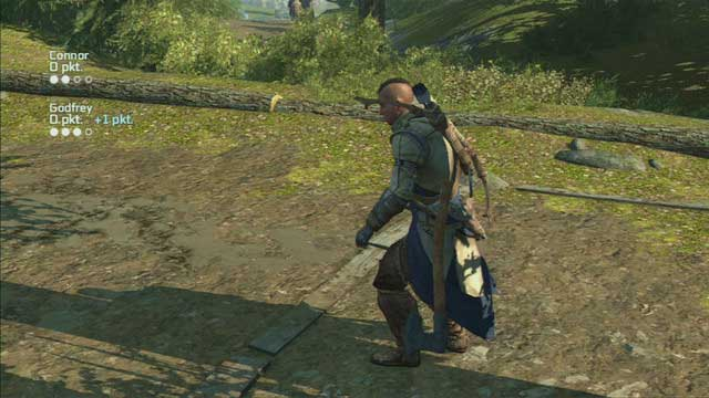 The interaction button is used to switch between different throws - Godfrey and Terry - Homestead - Assassins Creed III - Game Guide and Walkthrough