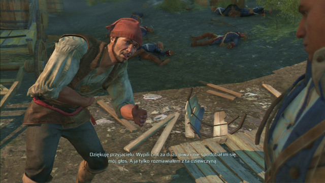 Save him and you will get your village a good miner - Norris - Homestead - Assassins Creed III - Game Guide and Walkthrough
