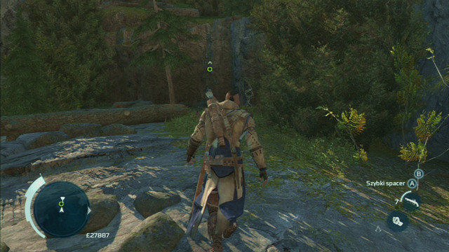 As you reach the target, press the interaction button to pick the flowers and jump down onto the pile of dry leaves - Norris - Homestead - Assassins Creed III - Game Guide and Walkthrough