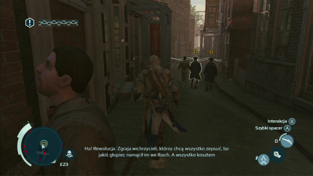 Optional objective: Perform a successful mobile eavesdrop - Sequence 8 - Something on the Side | Assassins Creed III Remastered Walkthrough - Walkthrough - Assassins Creed III Game Guide & Walkthrough