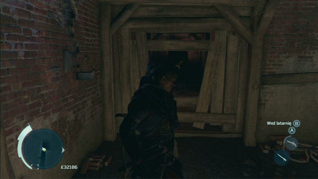 Shoot the barrel through the wooden barrier and get to the other side along the corridor on the right - Boston - Underground - Assassins Creed III - Game Guide and Walkthrough