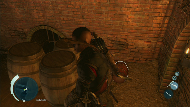 Nearby the Brewery exit you should see a gunpowder barrel - New York - Underground - Assassins Creed III - Game Guide and Walkthrough
