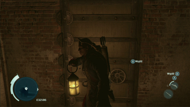 To open the door, move the left analog stick to the left, the right to the right and afterwards the left to the right - New York - Underground - Assassins Creed III - Game Guide and Walkthrough