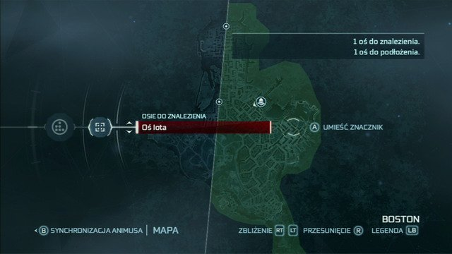 Two first pivot points will be marked on the map of Boston - Animus Synching - Assassins Creed III - Game Guide and Walkthrough