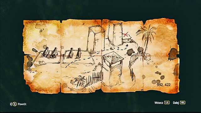 The map is in the Eastern part of the restricted area, in the hollowing - Anotto Bay - Treasure maps - Assassins Creed IV: Black Flag - Game Guide and Walkthrough