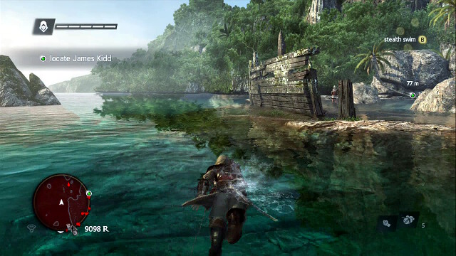 Avoid everyone while swimming - 02 - Nothing is True... - Sequence 4 - Assassins Creed IV: Black Flag - Game Guide and Walkthrough