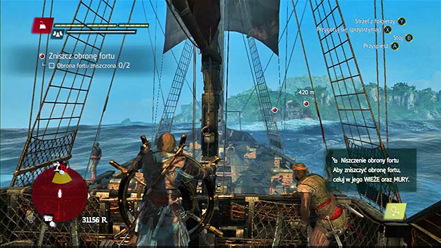 In order to attack a fort, sail up into its region - Seizing of forts - Assassins Creed IV: Black Flag - Game Guide and Walkthrough