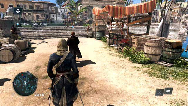 Kenampakan third person perspective di ACIV Black Flag.