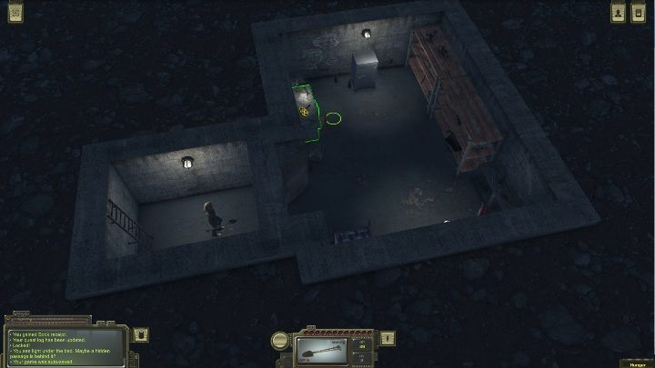 In the shelter, you will find a desk, two cabinets and a locked safe - How to open the shelter in Ostradnoye in ATOM RPG? - FAQ - ATOM RPG Guide