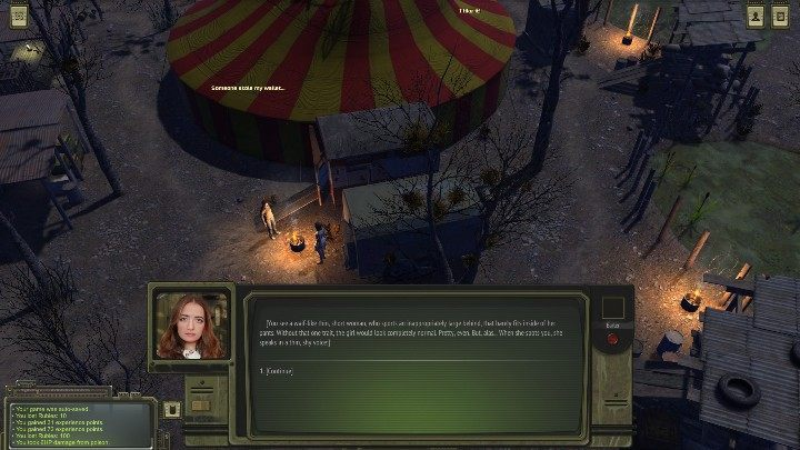 Go to Yana and talk to her - Circus - ATOM RPG Walkthrough - Walkthrough - ATOM RPG Guide