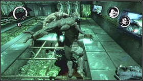 I would recommend that you focus on inflicting injuries to both mutants and not only one - Walkthrough - Botanical Gardens - part 3 - Walkthrough - Batman: Arkham Asylum - Game Guide and Walkthrough