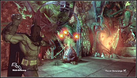 As you've probably noticed the roots are still here, so you'll be forced to head through a short tunnel - Walkthrough - Botanical Gardens #2 - Walkthrough - Batman: Arkham Asylum - Game Guide and Walkthrough
