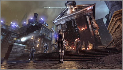 The second building in Park Row is the Solomon Wayne Courthouse - Location info & maps | Park Row - Park Row - Batman: Arkham City Game Guide