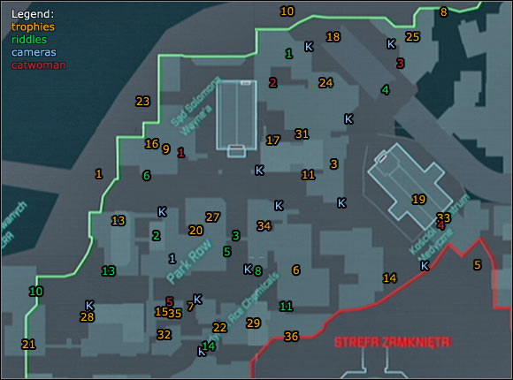Location Info Amp Maps Park Row Batman Arkham City Game