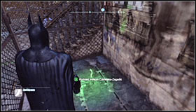 After reaching the area where the Trophy is hidden you should note that there are two proximity mines blocking the way to it - Batman trophies (25-36) | Park Row - Park Row - Batman: Arkham City Game Guide