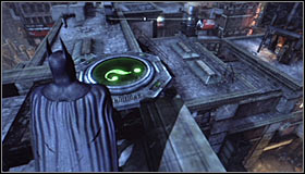 After reaching the area where the Trophy is hidden you should note that its blocked by a large horizontal gate #1 - Batman trophies (25-36) | Park Row - Park Row - Batman: Arkham City Game Guide