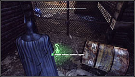 Batman should not only fly through the gate before it closes again, but also break through a floor fragment #1 - Batman trophies (25-36) | Park Row - Park Row - Batman: Arkham City Game Guide