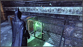All you have to do now is interacting with the so far ignored, third magnet #1 found right beside the hole - Batman trophies (25-36) | Park Row - Park Row - Batman: Arkham City Game Guide