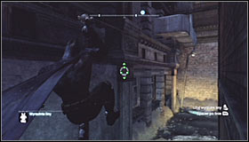 Equip the Freeze Blast and create an ice raft #1, making sure that its as close to the wall in the distance as possible - Batman trophies (01-10) | Amusement Mile - Amusement Mile - Batman: Arkham City Game Guide