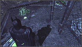 The solution to this puzzle isnt quite obvious, so try to directly follow the hints given here - Batman trophies (01-10) | Amusement Mile - Amusement Mile - Batman: Arkham City Game Guide