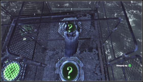 Start gliding above the cages in which the other two pressure plates are #1 - Batman trophies (01-10) | Amusement Mile - Amusement Mile - Batman: Arkham City Game Guide