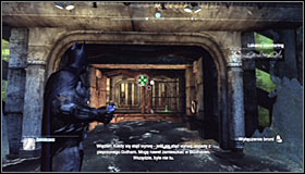 Note that the access to the Trophy is protected by a turret #1 - Batman trophies (01-10) | Amusement Mile - Amusement Mile - Batman: Arkham City Game Guide