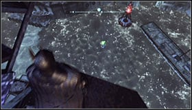 Locate the cranes engine #1 and use the Electrical Charge on it - Batman trophies (11-18) | Amusement Mile - Amusement Mile - Batman: Arkham City Game Guide