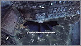 Use the Freeze Blast to create an ice float beside the question marks #1 and glide there #2 - Batman trophies (11-18) | Amusement Mile - Amusement Mile - Batman: Arkham City Game Guide