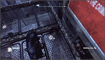 The while fenced area around the Trophy is a minefield which you have to pass through - Batman trophies (19-28) | Amusement Mile - Amusement Mile - Batman: Arkham City Game Guide
