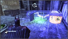 Sending the charge will cause the electromagnet to attract the sphere #1 - Batman trophies (19-28) | Amusement Mile - Amusement Mile - Batman: Arkham City Game Guide