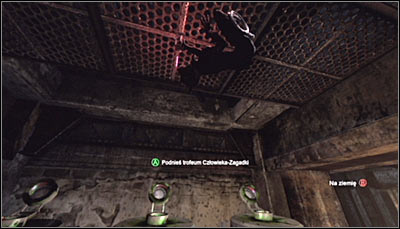 Use Ceiling Climb skill by pressing RB and collect the Trophy (screen above) - Catwoman trophies | Amusement Mile - Amusement Mile - Batman: Arkham City Game Guide