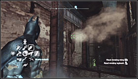 Now prepare the Disruptor and use it to detonate the proximity mine from a safe distance #1 - Batman trophies (17-25) | Industrial District - Industrial District - Batman: Arkham City Game Guide