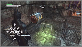 After reaching the area where the Trophy is hidden, take some time to familiarize yourself with the assumptions of this puzzle - Batman trophies (17-25) | Industrial District - Industrial District - Batman: Arkham City Game Guide