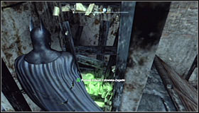Turn on the Detective Mode thanks to which you should note that the wooden obstacle can be destroyed with the Explosive Gel #1 - Batman trophies (17-25) | Industrial District - Industrial District - Batman: Arkham City Game Guide