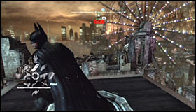 Get to the very top of the construction and find the pressure plate #1 - Batman trophies (26-37) | Industrial District - Industrial District - Batman: Arkham City Game Guide