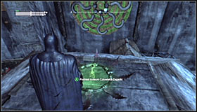 If you hit the right one, all of them should deactivate #1 and the Trophy cage open #2 - Batman trophies (26-37) | Industrial District - Industrial District - Batman: Arkham City Game Guide