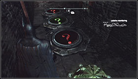 After reaching the destination you should note that the Trophy is in a cage #1 and there are three pressure plates around it - Batman trophies (26-37) | Industrial District - Industrial District - Batman: Arkham City Game Guide