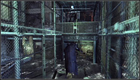 Continue riding the rope, though press RB right after getting out of the tunnel - Batman trophies (26-37) | Industrial District - Industrial District - Batman: Arkham City Game Guide