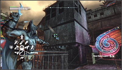 There is a total of twelve TYGER cams in the Industrial District and destroying them will let you complete a total of four riddles (three cameras per each) - TYGER cameras | Industrial District - Industrial District - Batman: Arkham City Game Guide
