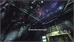 Jump down into the little room and look up to find the Trophy, attached to the ceiling #1 - Catwoman trophies | Industrial District - Industrial District - Batman: Arkham City Game Guide