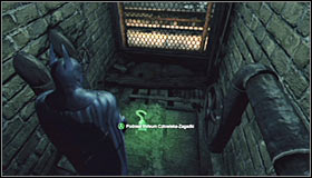 You cant approach this from the north, as you would come across a locked gate - Batman trophies (01-11) | Subway - Subway - Batman: Arkham City Game Guide