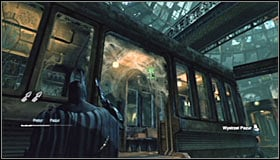 Examine the cars on the station #1 - Batman trophies (12-26) | Subway - Subway - Batman: Arkham City Game Guide