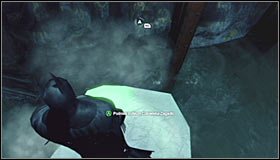Stand on the wooden footbridge beside the flooded part of the tunnel, equip the Freeze Blast and create an ice float directly beneath yourself #1 - Batman trophies (12-26) | Subway - Subway - Batman: Arkham City Game Guide