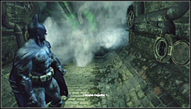 Stand on the pressure plate #1 and listen out to Riddlers speech - Batman trophies (12-26) | Subway - Subway - Batman: Arkham City Game Guide