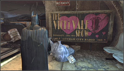 Search the platform (lower level) for a Vicki Vale billboard (screen above) and scan it - Riddles - Subway - Batman: Arkham City - Game Guide and Walkthrough